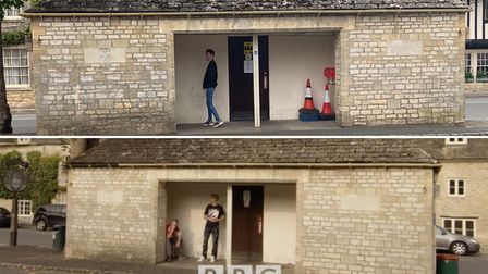 The bus shelter seen in series one episode one of This Country.