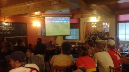 Hopes were high ahead of kick off at the Rose Tavern, but it wasn't to be.