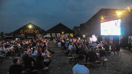 Fans at The Arena in Sprowston watching the England v Italy Euros final. Picture: Danielle Booden