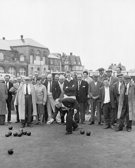 The bowling green on South Beach Parade, Great Yarmouth in 1963