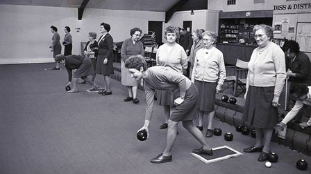 Indoor Bowls Club in Diss, 25 February 1969