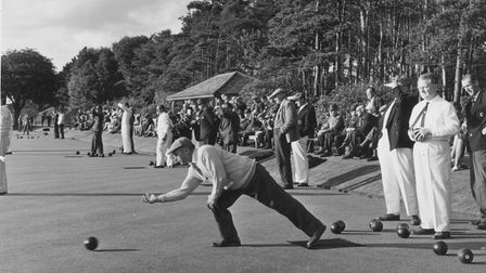 Norfolk County Bowls AssociationCounty Cup final at Eaton Park, Norwich between Dereham St. Nicholas and Runham in 1966