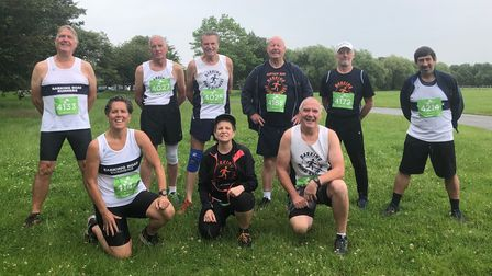 Barking Road Runners face the camera at Thorndon Park