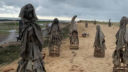 15 sculptures were spotted at Walton on the Naze