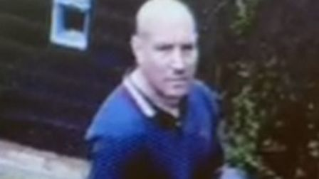 Image released by Cambridgeshire Police of man wanted in connection with Impington burglary