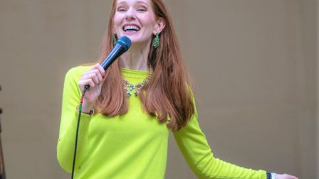 Diane Spencer's lockdown experiences had the crowd at the Cambridge Comedy Festival's Glade stage crying with laughter.