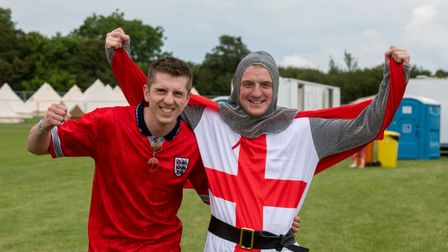 England supporters were out in force at the 2021 Cambridge Comedy Festival.
