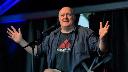 A recent legoperation couldn't stop Dara O' Briain from makingit tothe 2021 Cambridge Comedy Festival.