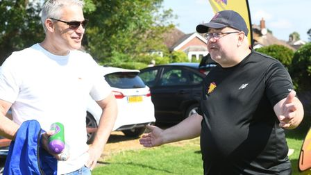 MP Steve Barclay visited March Town Cricket Club as it held an ECB Dynamos tournament