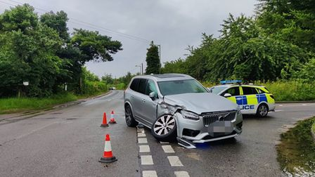 Police attended the scene of a crash involving a Volvo and HGV this morning