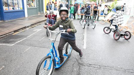 Room to cycle safely after school in Bethnal Green