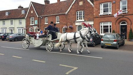 Lily Risley's carriage ride through Sudbury and Long Melford