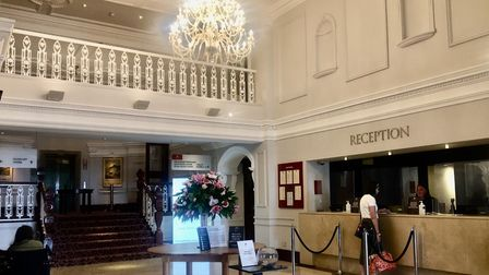 The grand reception at Slieve Donard Resort, County Down, provides a warm welcome