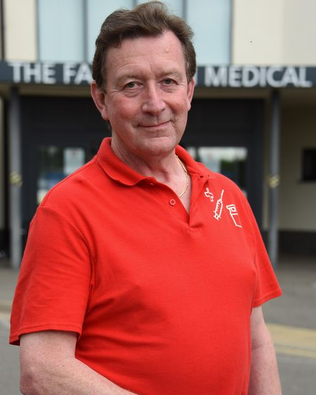 Chris Hardy, Lifeboat operations manager at Wells RNLI, who has been volunteering at the Fakenham Me