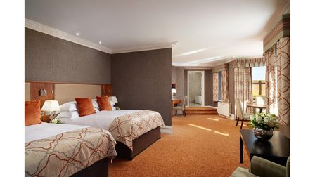 One of the bedrooms at Slieve Donard Resort