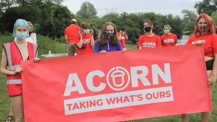 ACORN Cambridge held the mass protest swim at Grantchester Meadows, to oppose King's College swimming ban