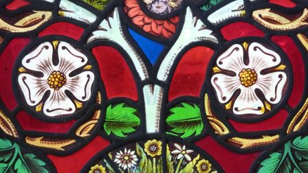 The roses which feature onSt. Andrew's Church'sstained glass windows.