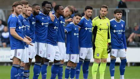 Ipswich Town first team players at the pre-season friendly against Dartford