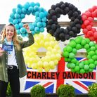 Charley Davison with her Tokyo ticket at the special homecoming celebrations in Oulton Broad, Lowestoft last month.