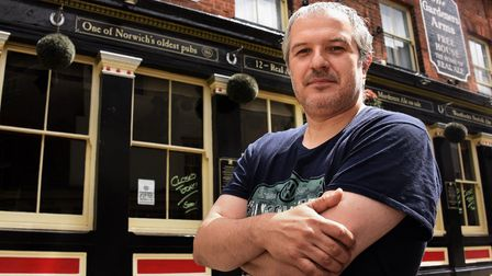 Phil Cutter, landlord at the Murderers, who has a strict 'no vaccine - no entry' policy. Picture: DE
