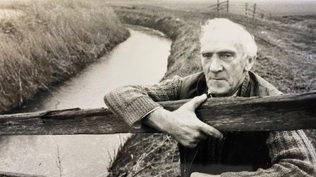 Billy Lacey when he worked on the east Norfolk marshes