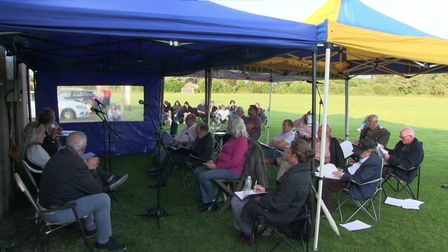 Downham Market Town Council held its full council meeting outside the Jubilee Community Centre on July 13.