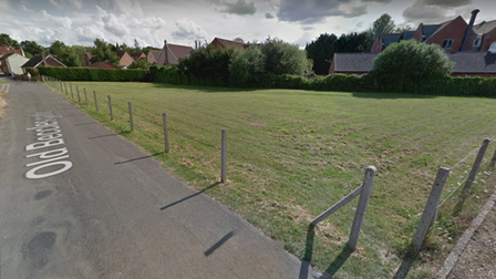 Streetview image of the green space at Old Becclesgate