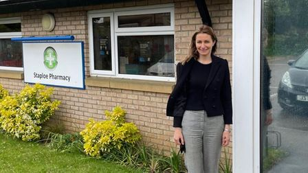 In May, Lucy Frazer MP visited Staploe Medical Centre to thank staff and vaccination volunteers for their hard work.