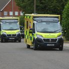 East of England ambulances in a row