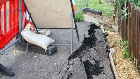 Sink holes remain in Nene Parade, March