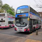 First Bus serviceson Castle Meadow in Norwich.