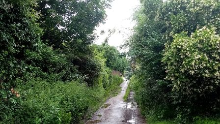 Residents of Stowmarket are unhappy with the state of Pound Lane in the town