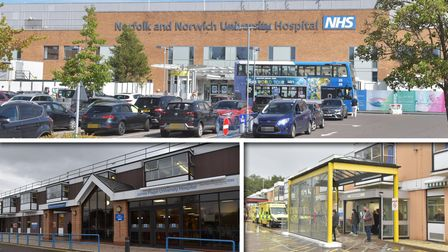 Norfolk and Norwich University Hospital, James Paget Hospital and the Queen Elizabeth Hospital. Pict