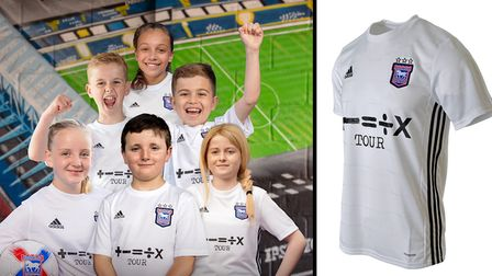 Young Ipswich Town fansKai, Jamie, Freia, Brennan-Tate, Tilly and Ava have helped launch the club's new away kit
