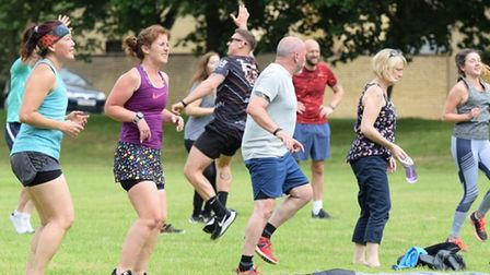 outdoor workout and tribute event in memory of John Skinner in Thetford