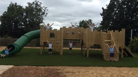 Woodbridge's St Mary's Primary School has a new play area thanks to parents' fundraising