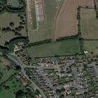 The site of the homes on land off Old Station Road in Halesworth
