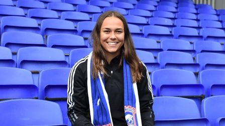 Paige Peake has become the second player to sign a professional contract with Ipswich Town Women this summer. Photo: ITFC