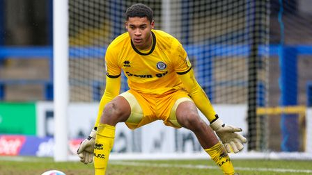 Manchester City keeper Gavin Bazunu, shown in action for Rochdale, claims he decided to join Portsmouth ahead of Ipswich Town