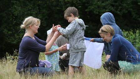 The Devon Wildlife Trust's open day at Bystock nature reserve as part of East Devon Heath Week prove