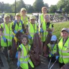 Members of the 4th March Brownies collected eight bags of litter from the West End riverside.