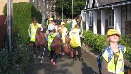 The litter pick meant that the girls would receive their explorer challenge badge.