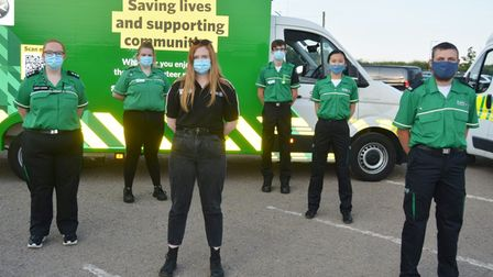 Cadets at Ely St John Ambulance at an awards night to recognise work during Covid-19 pandemic