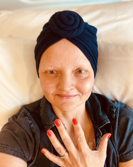 KatyStephenson after treatment for stage one cancer