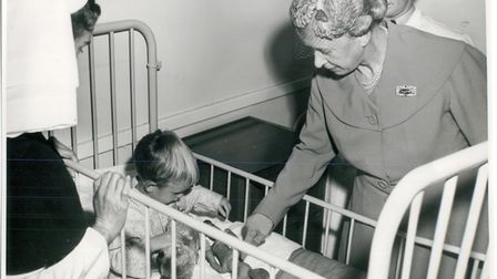 The Princess Royal visited Ely R.A.F. Hospital, Ely, in 1956