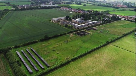 The new solar field at Askham Village Community, which is projected to save them as much as 800,000 kg/CO2.