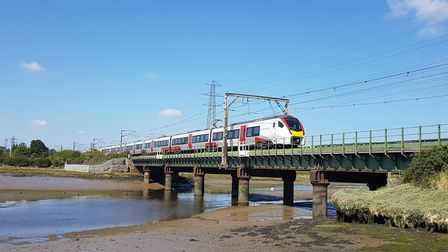 One of Greater Anglia's new Stadler Intercity trains