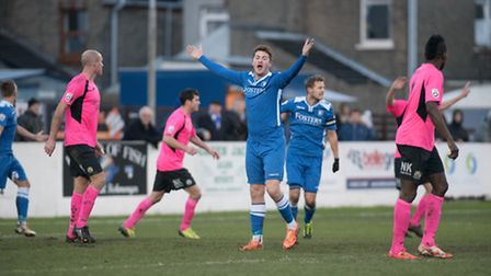 Lowestoft Town, blue, are not in action this evening. Picture: NICK BUTCHER