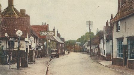 Quieter times on Norfolk roads when the heart of Long Stratton rarely suffered from car-diac arrest!