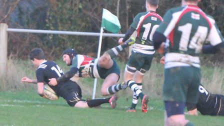 Matt Jarry-Ryan's brace of tries in Holt's win at Basildon put him on 108 tries in 108 games.
